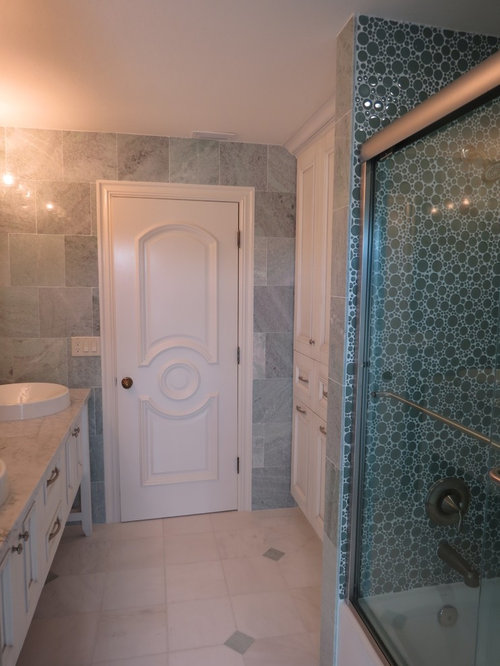 Modern Wall Trim Molding Bathroom Design Ideas, Pictures, Remodel & Decor with Granite ...