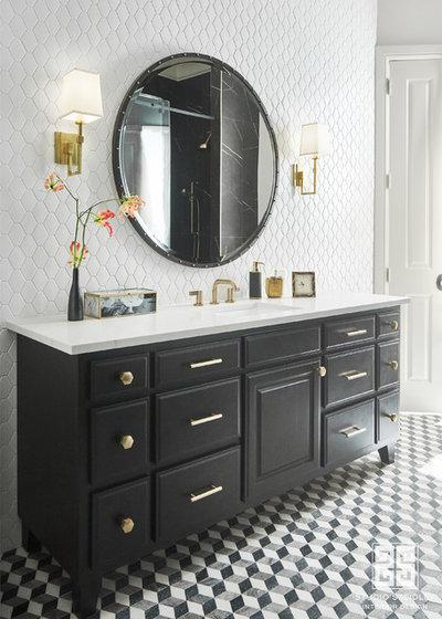 Transitional Bathroom by Studio Steidley