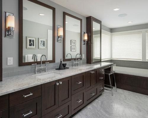 Espresso cabinets houzz for Espresso bathroom ideas