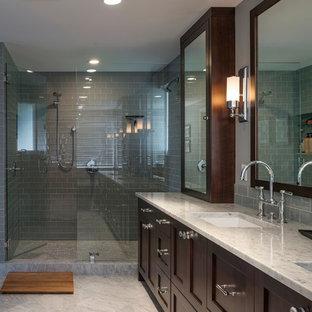 Неиссякаемый источник вдохновения для домашнего уюта: ванная комната в классическом стиле с плиткой кабанчик