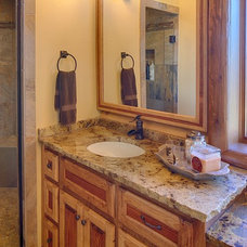 Rustic Bathroom by Satterwhite Log Homes