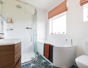 Bromley: Modern Geometric Tiled Bathroom