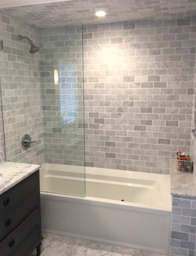 Bathroom by Guttilla Contracting, Ltd