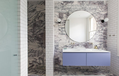 Marble Steals the Show in These 9 Bathrooms