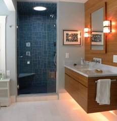 contemporary bathroom by Woodbourne Builders Inc