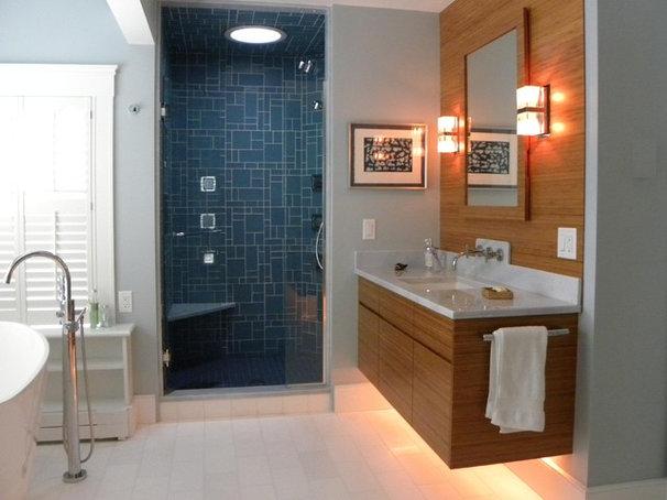 Contemporary Bathroom by Woodbourne Builders Inc