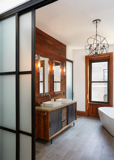 Transitional Bathroom by Maison Maya