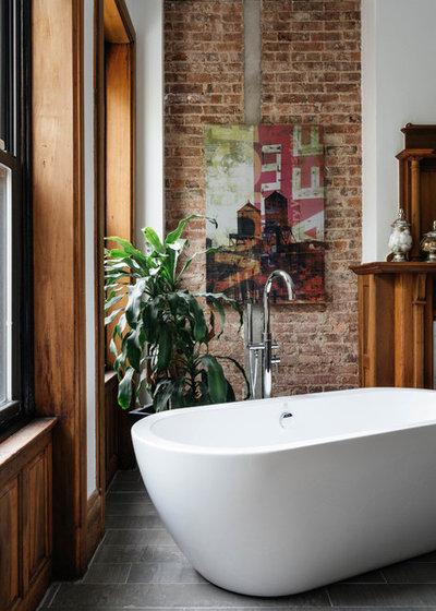 Transitional Bathroom by Maison Maya