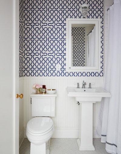 Transitional Bathroom by Nicole Gibbons Studio LLC