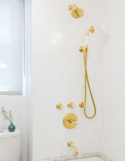 Scandinavian Bathroom by designs by human.