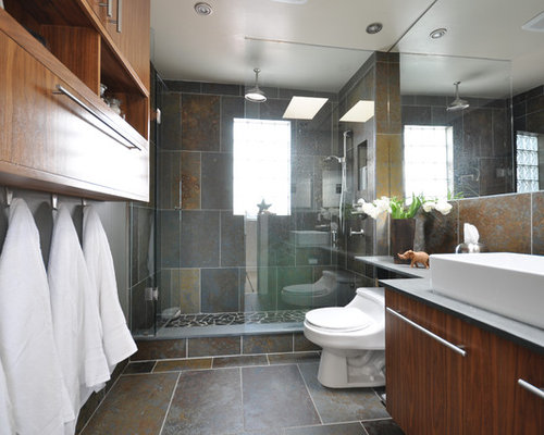 Slate Tile Bathroom Houzz