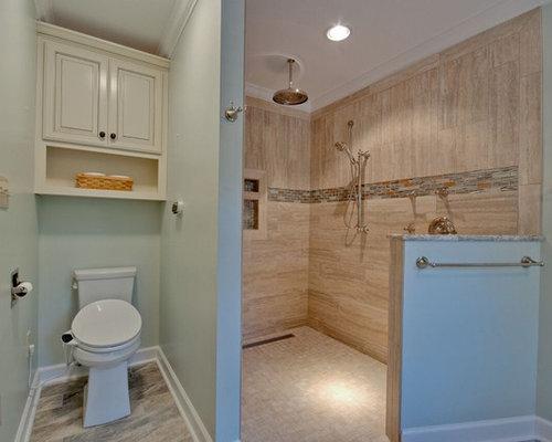 Vasca Da Bagno Sottopiano : Stanza da bagno con top in granito e lastra di pietra foto idee