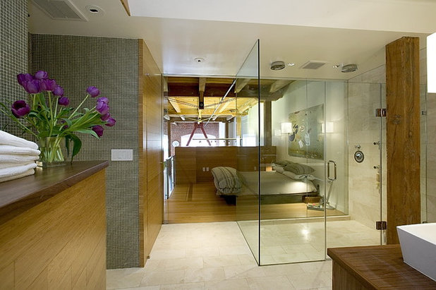 Industrial Bathroom by Studio G+S Architects