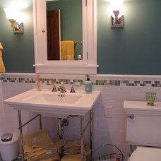 Craftsman Bathroom by Filla Green Design + Build