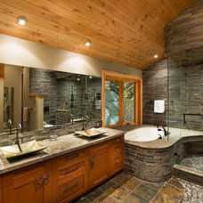 Transitional Bathroom by Elise Fett & Associates, Ltd.