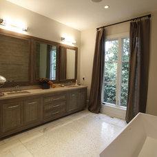 Farmhouse Bathroom by The Norwood Group