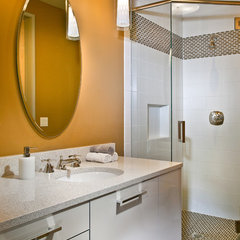 contemporary powder room by New Mood Design LLC
