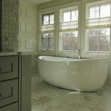 Transitional Bathroom by Kemp Hall Studio