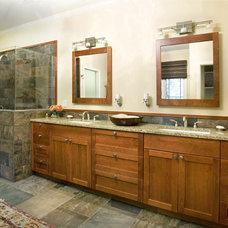 Craftsman Bathroom by Small Carpenters At Large, Inc.