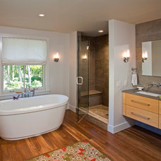 Eclectic Bathroom by Jarrett Vaughan Builders, Inc.