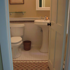 Farmhouse Bathroom by Eclectic Architecture, LLC