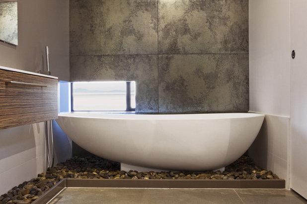9 id es d co pour sublimer votre salle de bains avec des galets for Idee deco salle de bain moderne
