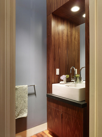 modern powder room by Schwartz and Architecture