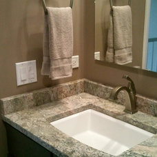Traditional Bathroom by rue interiors llc
