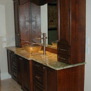 Built-In Vanity With Vessel Sink