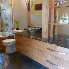 Eclectic Bathroom by Gayle Erdman   Casa Bella Design