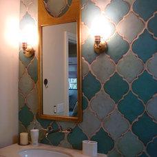 Tropical Bathroom by Lisa Wolfe Design, Ltd