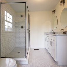 Transitional Bathroom by Linton Architects