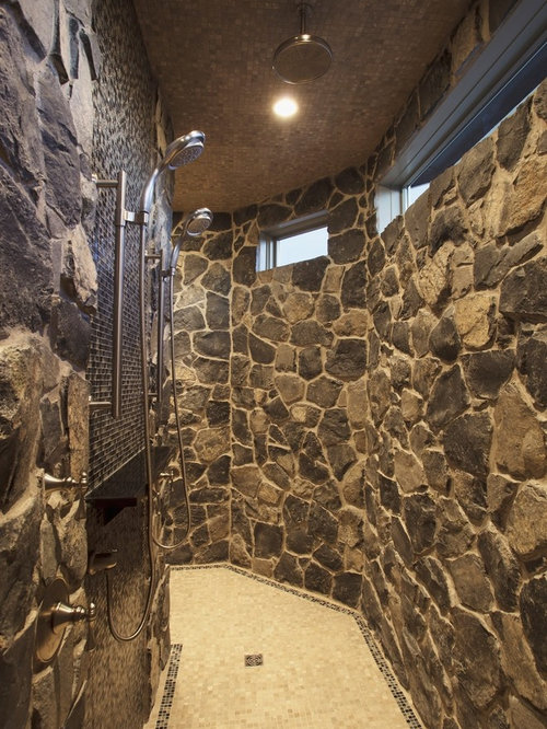 Stone showers home design ideas pictures remodel and decor for Custom bathroom design