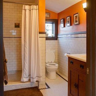 Immagine di una piccola stanza da bagno padronale american style