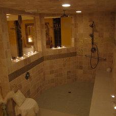 Mediterranean Bathroom by Bitchin' Digs