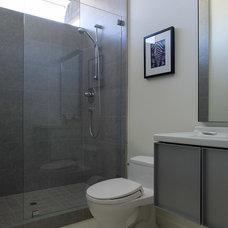 Modern Bathroom by Robert Nebolon Architects