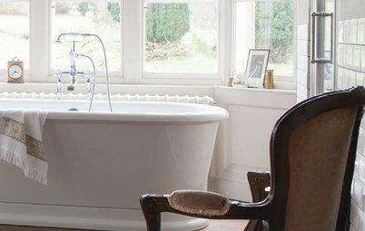 Skab et luksuriøst badeværelse – ved at stjæle fra de andre rum!