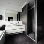 Lathlain contemporary bathroom perth by nulook homes for Bathroom decor willetton