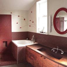 Contemporary Bathroom by Burns Organic Modern