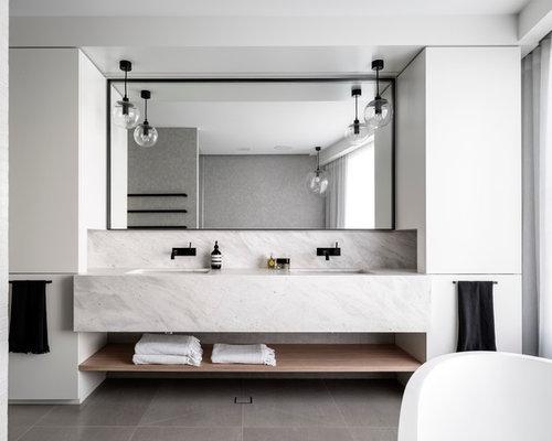contemporary bathroom idea in sydney - Lowes Bathroom Design Ideas