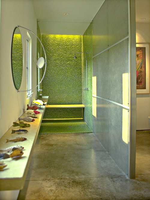 Green Floors green bathroom tile   houzz