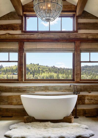 Rustic Bathroom by Trauner Fay Designs