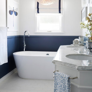 Navy And White Bathroom Ideas. Emailsave Buttoned Up Bathroom