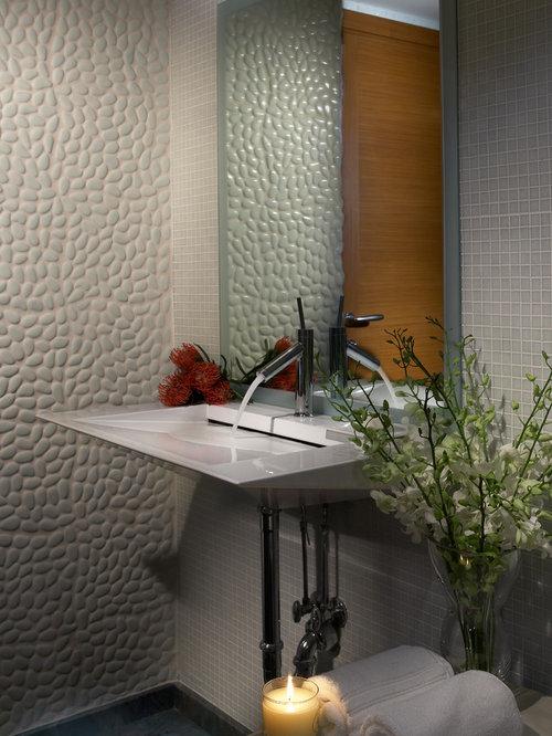Foto E Idee Per Bagni Bagno Con Piastrelle Di Ciottoli