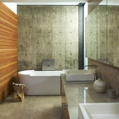 modern bathroom by the construction zone, ltd.