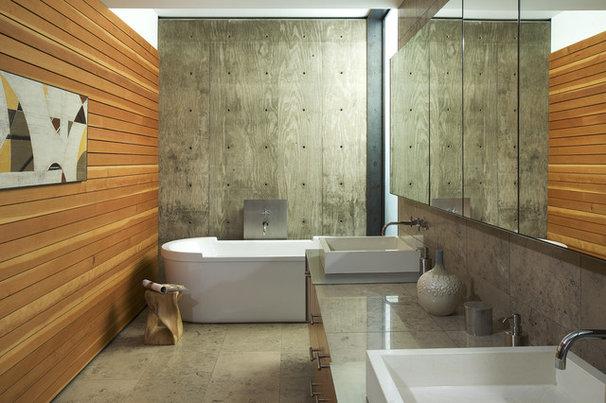 Modern Bathroom by the construction zone, ltd.