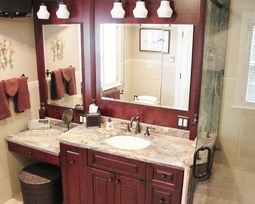 salle de bain avec un sol en galet et un bidet photos et. Black Bedroom Furniture Sets. Home Design Ideas