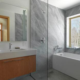 75 Modern Stone Slab Wet Room Design Ideas Stylish Modern Stone