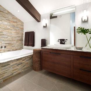 Stone Wall Bathroom   Houzz