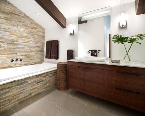 Stone Tub Surround | Houzz